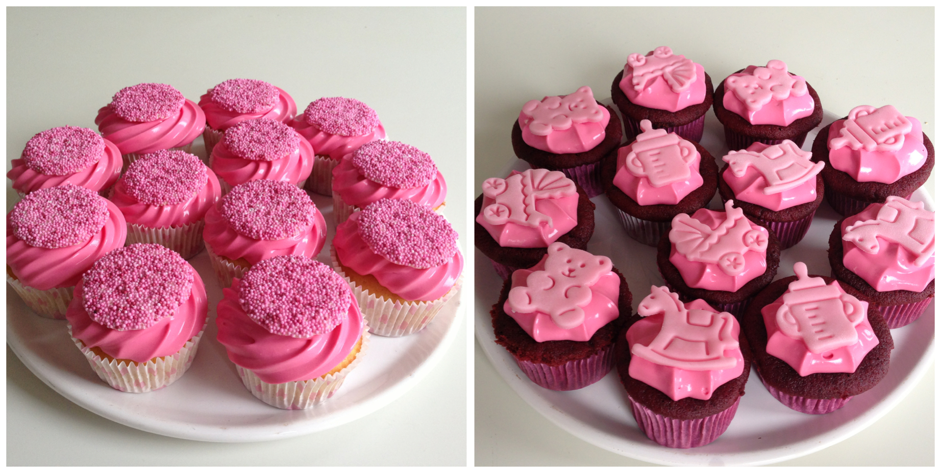 It's a girl! – Baby shower cupcakes