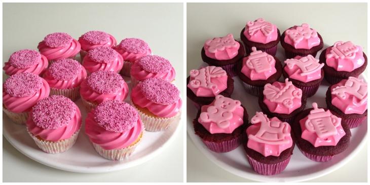 cupcakes two white